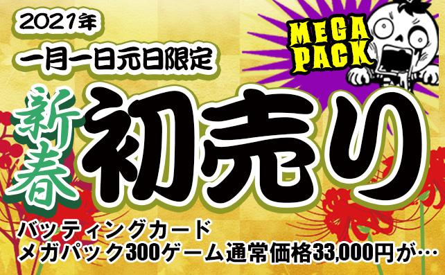 開催日:2021年1月1日(元旦)初売り!メガパック!